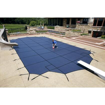 WS700BU Blue 20-Year Super Mesh Safety Cover For 12' x 24' Rectangular Pool in