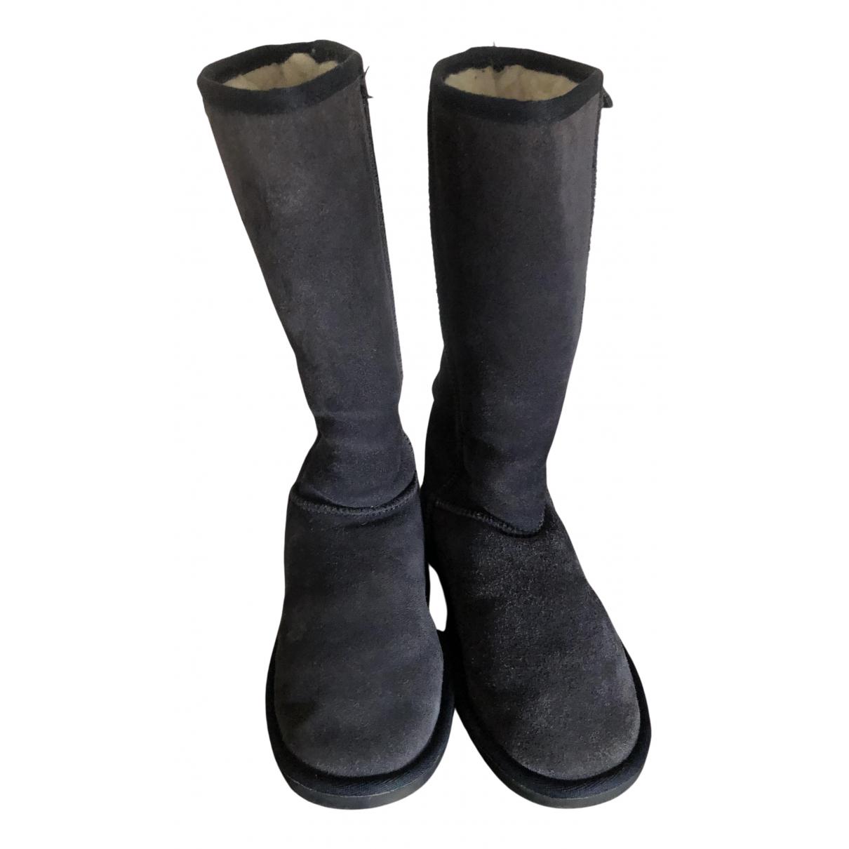 Emu Australia N Blue Suede Boots for Women 38 EU