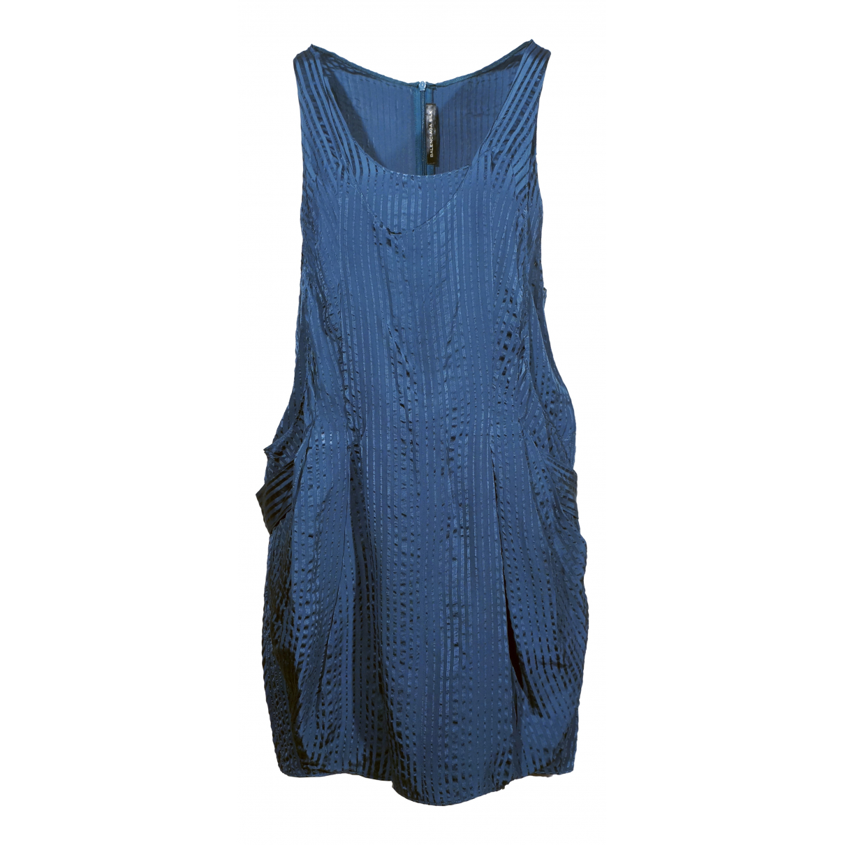Balenciaga \N Blue Silk dress for Women 36 FR
