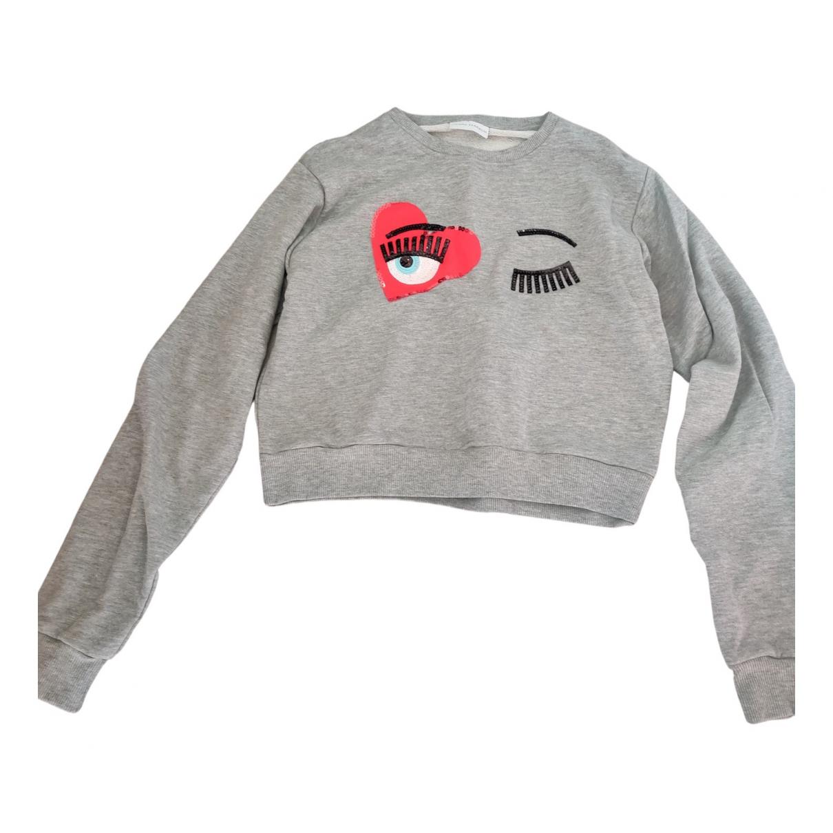Chiara Ferragni \N Grey Cotton Knitwear for Women M International