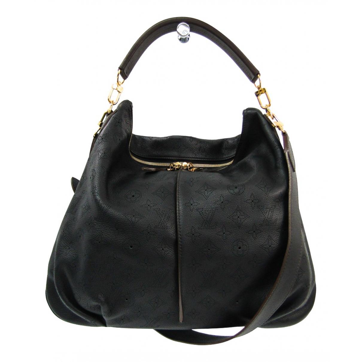 Louis Vuitton Mahina Black Leather handbag for Women \N
