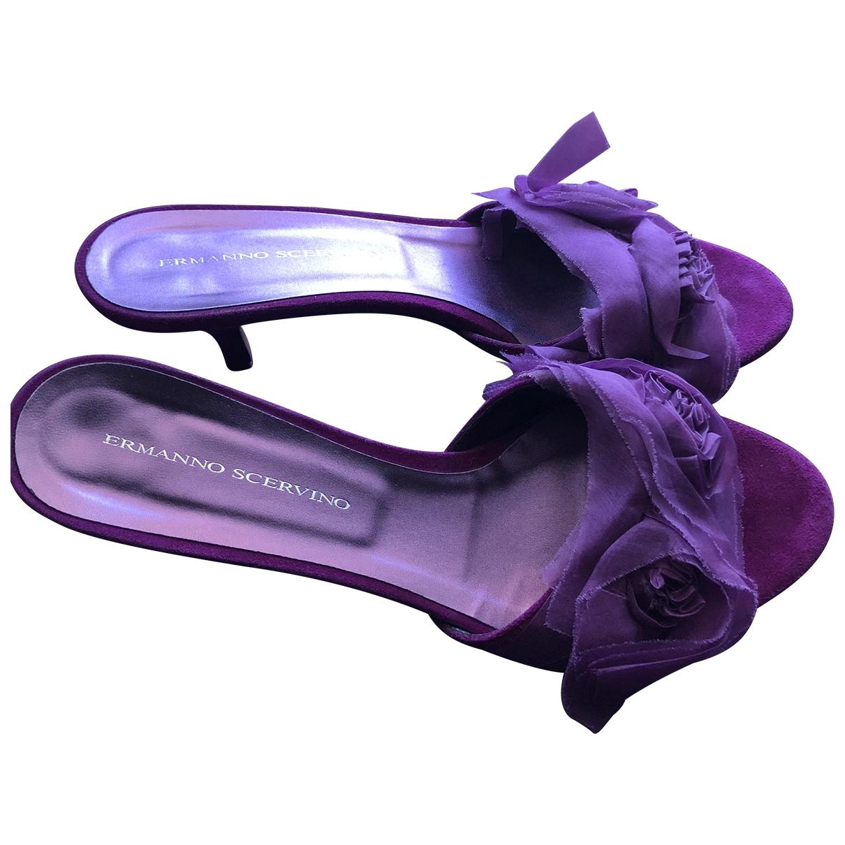 Ermanno Scervino - Sandales   pour femme en toile - violet