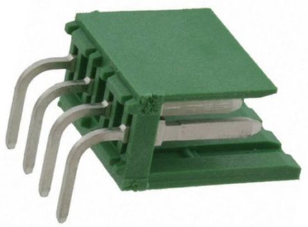TE Connectivity , AMPMODU MOD I, 4 Way, 1 Row, Right Angle PCB Header (10)