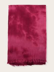 Tie Dye Raw Hem Scarf