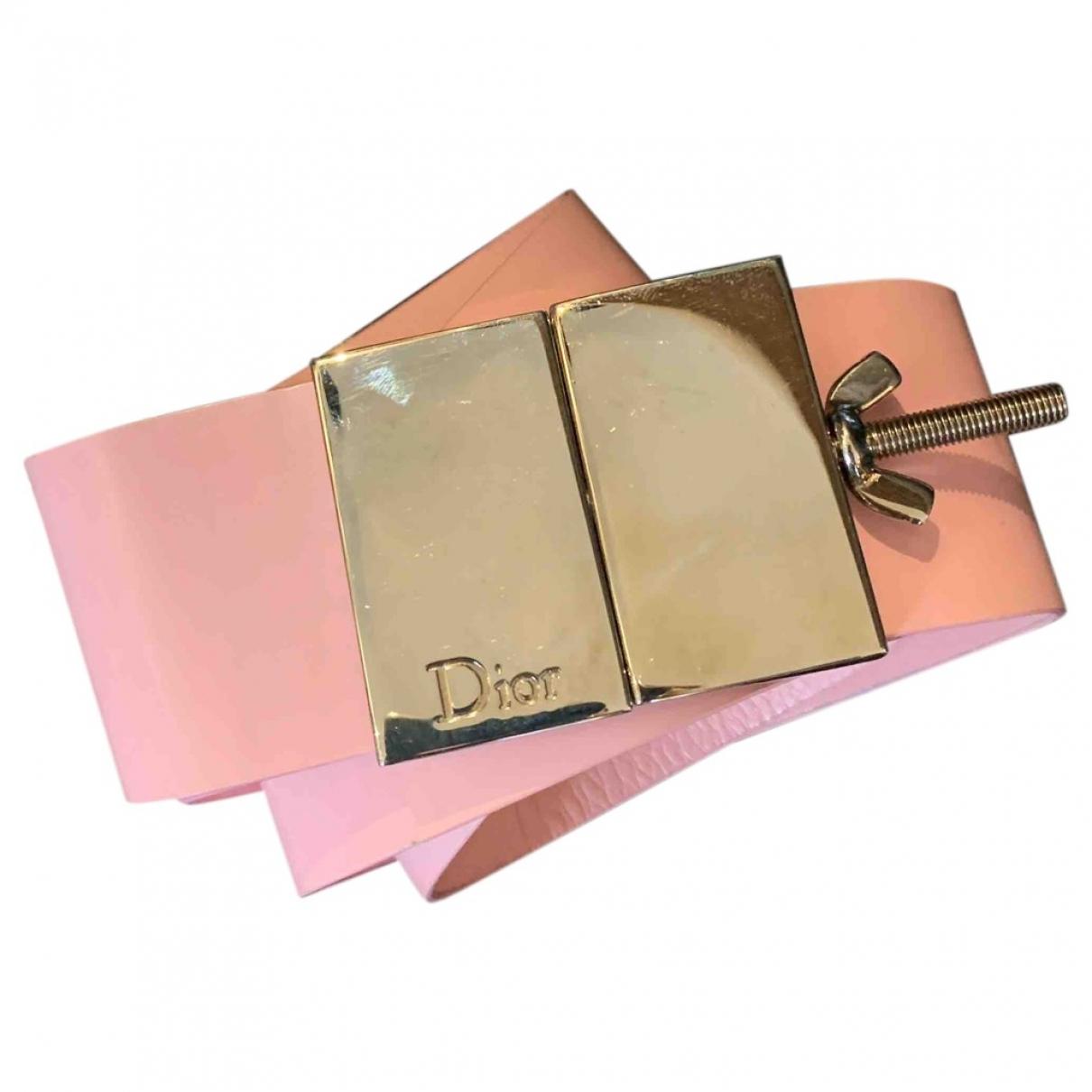 Dior \N Guertel in  Rosa Leder