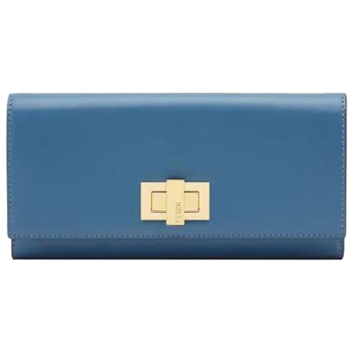 Fendi - Petite maroquinerie   pour femme en cuir - bleu