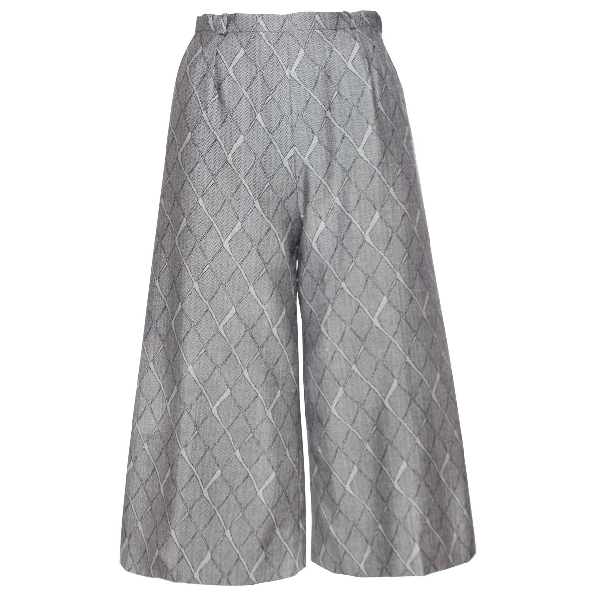 Guy Laroche \N Hose in  Grau Wolle