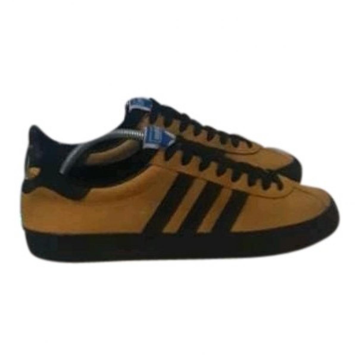Adidas - Baskets   pour homme en suede - jaune