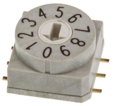 Wurth Elektronik Rotary Switch 10 x 10mm 10 pos Grey
