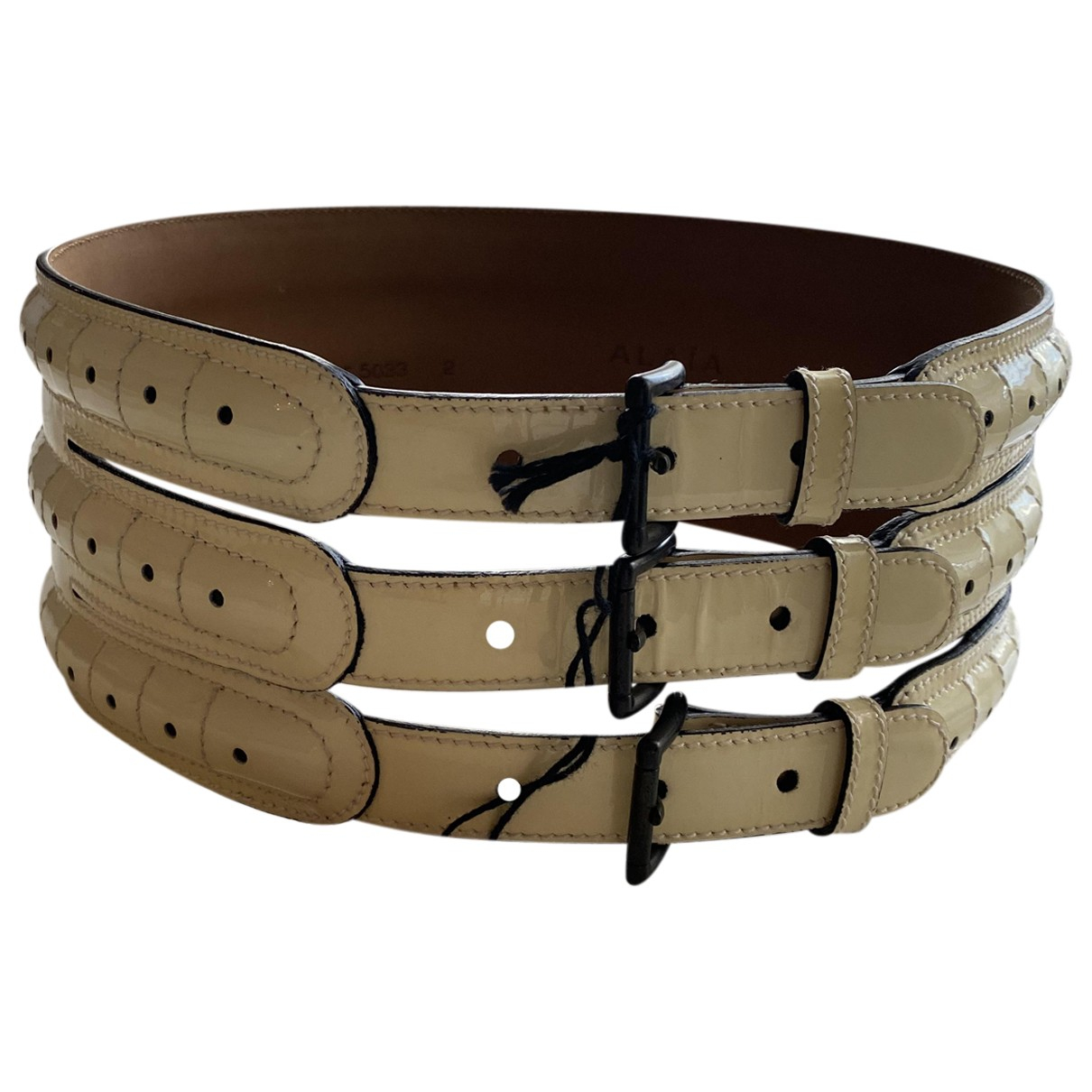 Cinturon de Charol Alaia