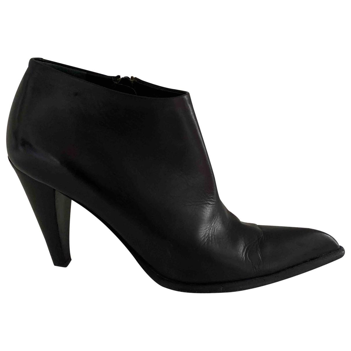 Max Mara - Boots   pour femme en cuir - noir