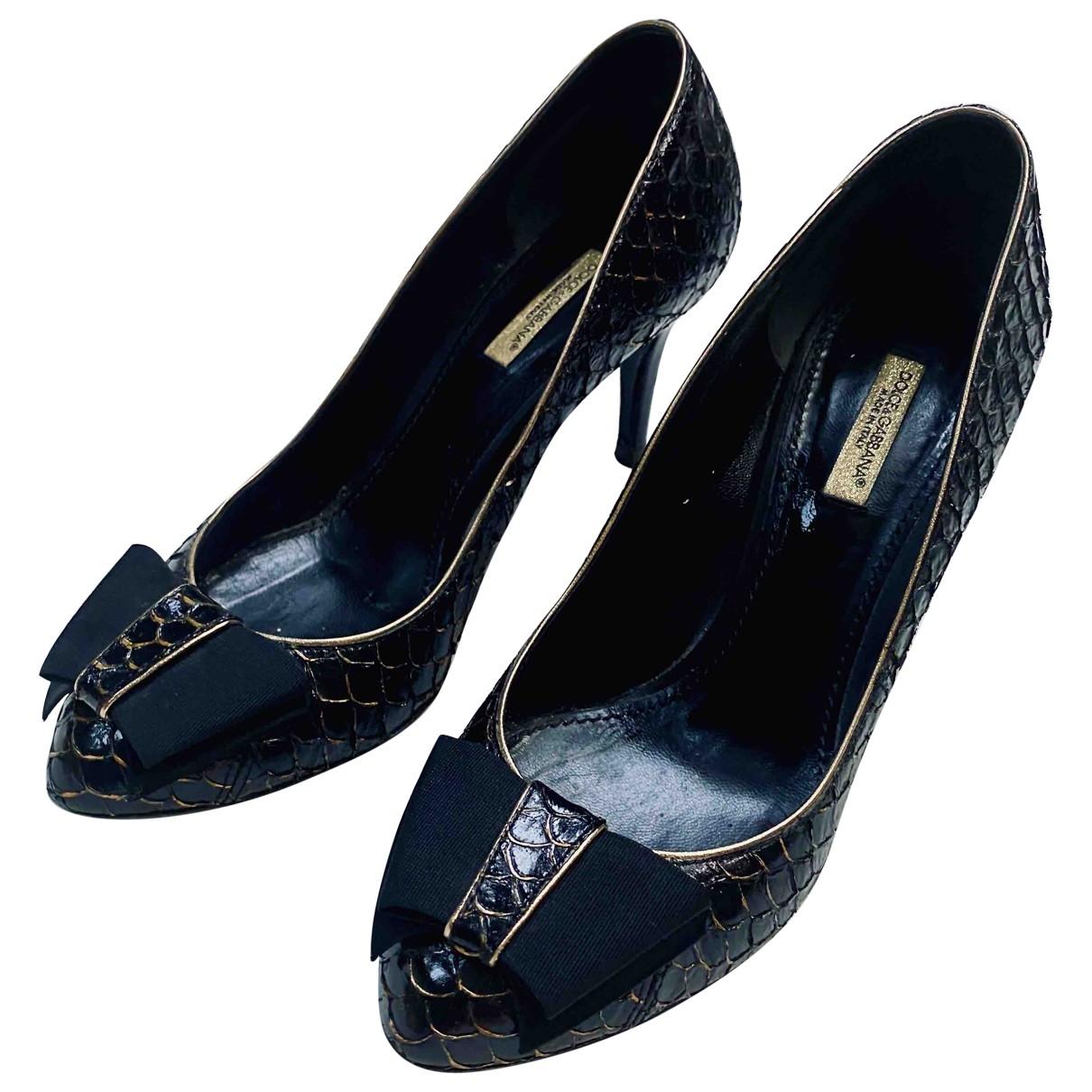 Dolce & Gabbana \N Black Water snake Heels for Women 36.5 EU