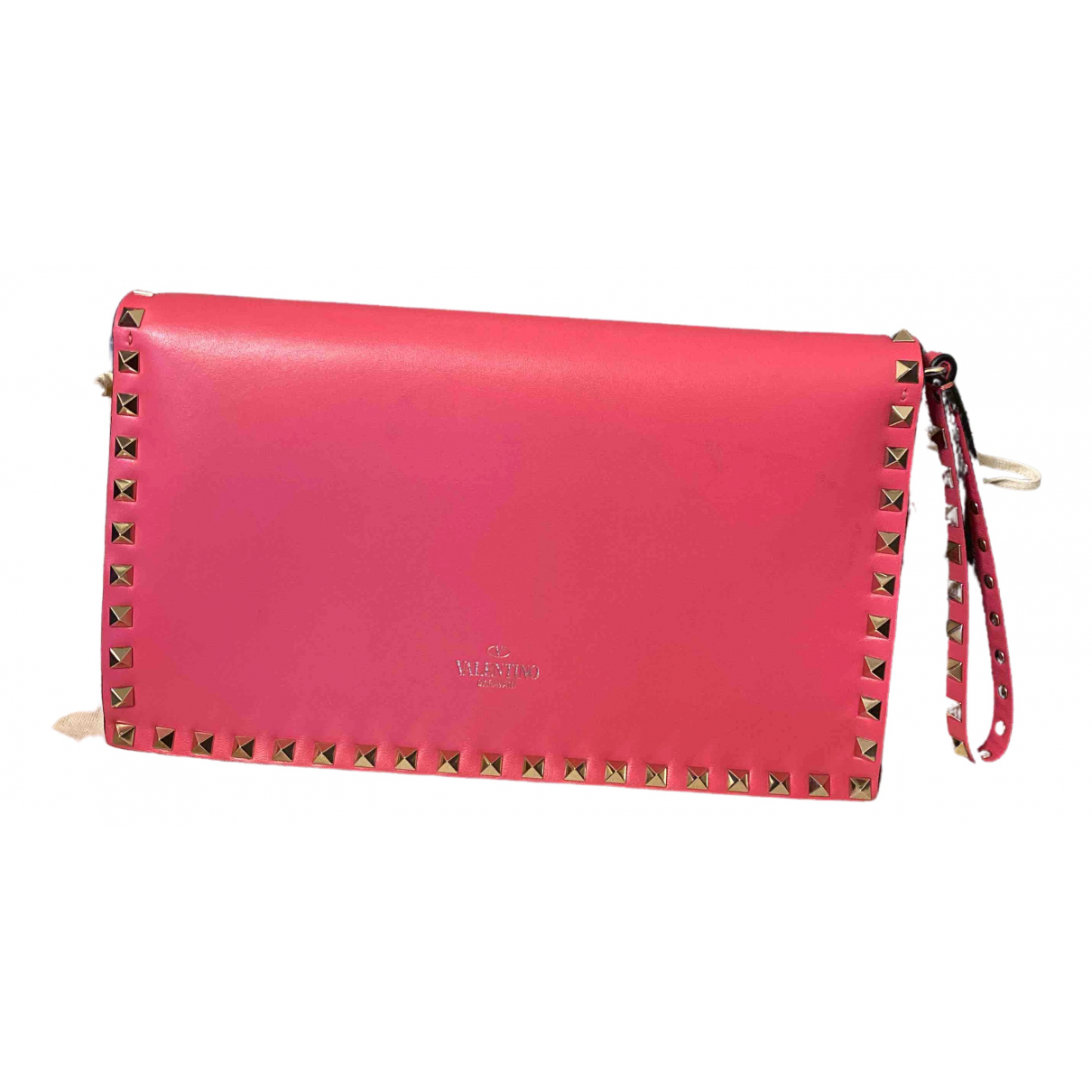 Valentino Garavani - Pochette Rockstud pour femme en cuir - rose