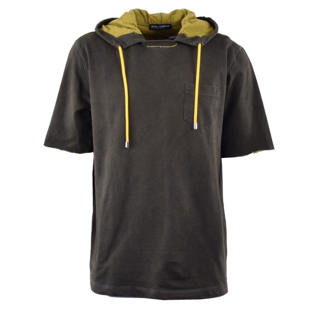 Dolce & Gabbana \N T-Shirts in  Khaki Baumwolle