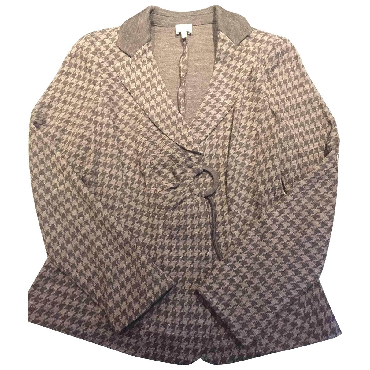 Armani Collezioni \N Grey Wool jacket for Women 46 IT