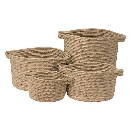 Colonial Mills Nantucket Solids Basket, One Size , Beige