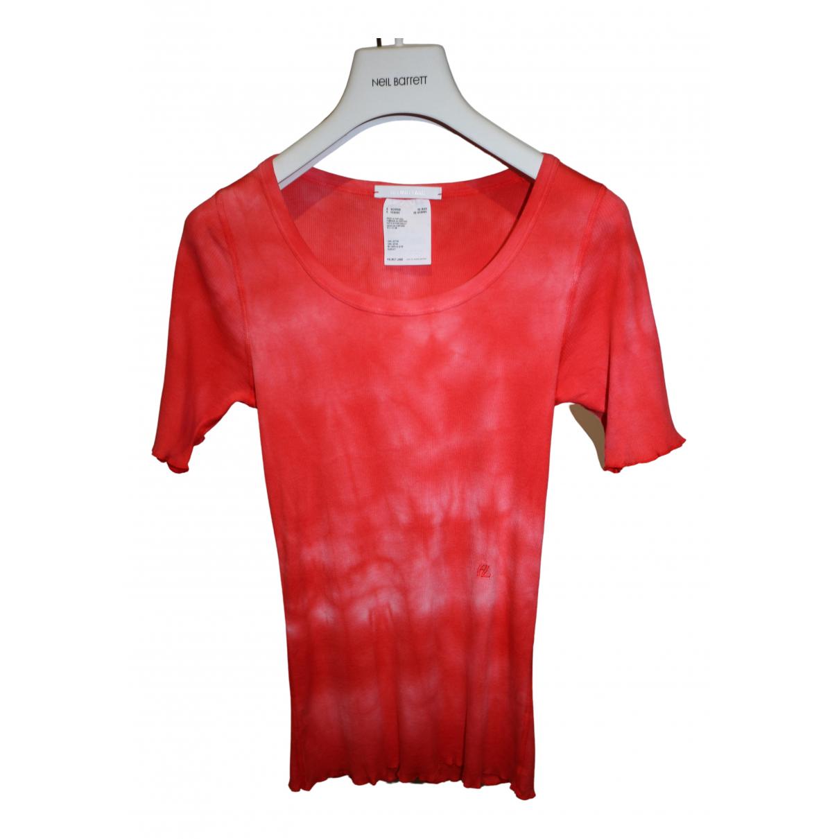 Helmut Lang - Top   pour femme en coton - rouge
