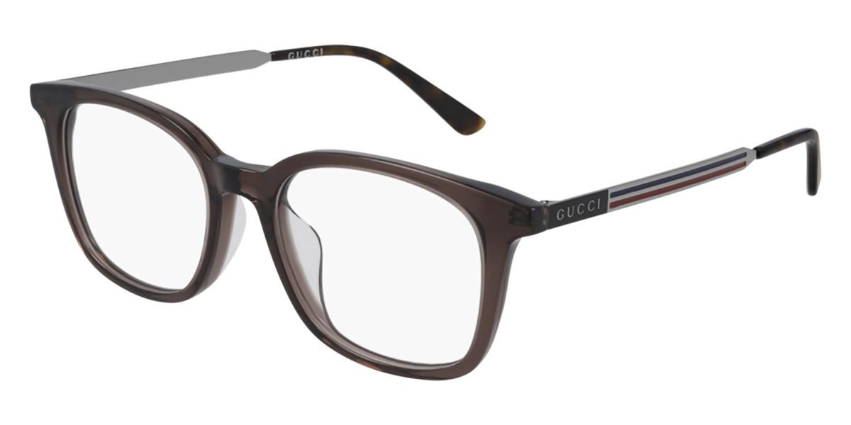 Gucci GG0831OA Asian Fit 003 Men's Glasses Grey Size 52 - Free Lenses - HSA/FSA Insurance - Blue Light Block Available