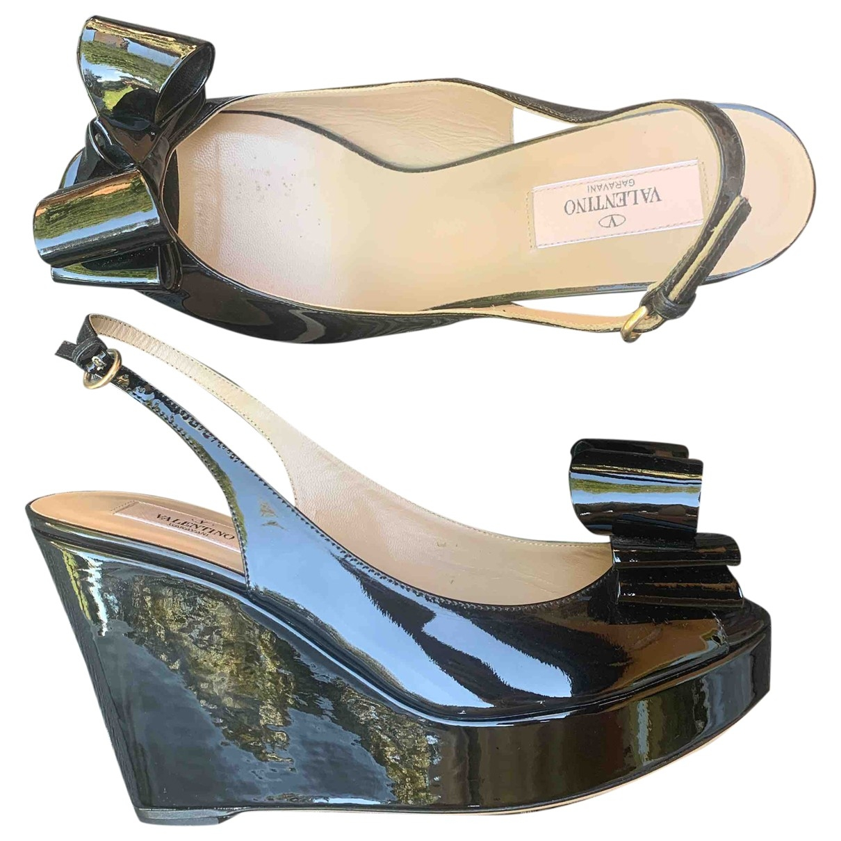 Valentino Garavani \N Black Patent leather Heels for Women 39 IT