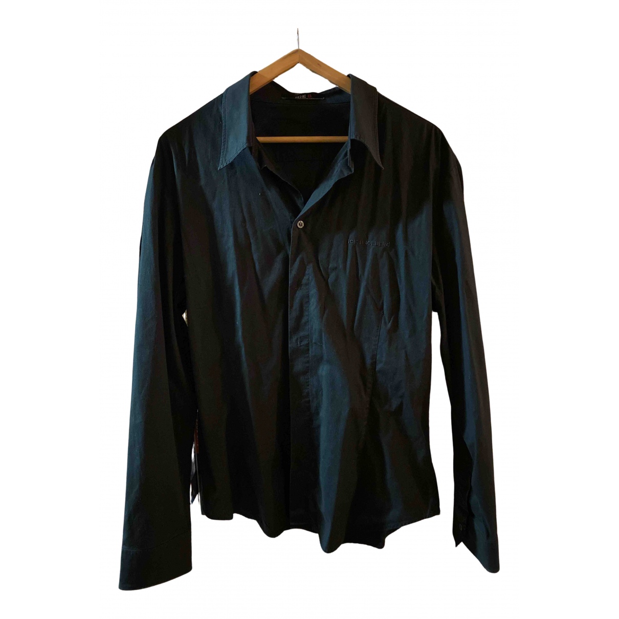 Iceberg N Black Cotton Shirts for Men XL International