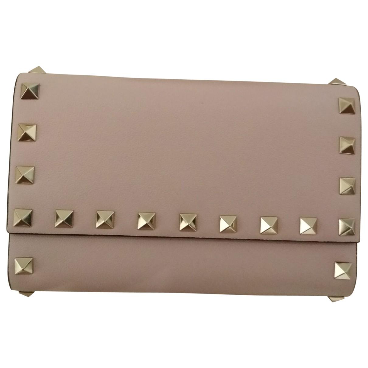 Valentino Garavani \N Pink Leather wallet for Women \N