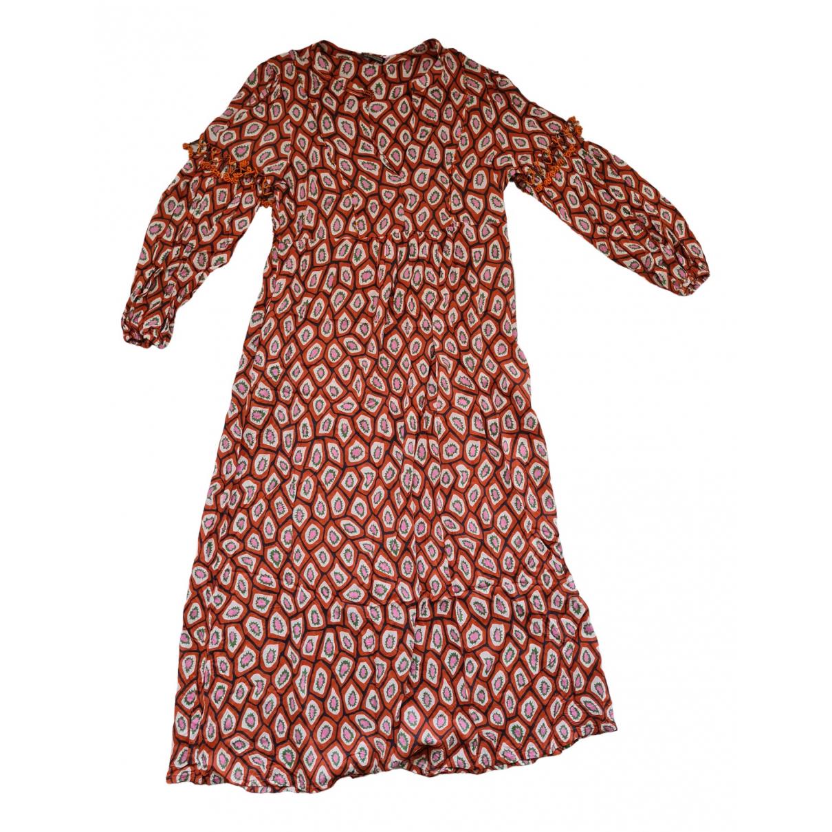 Maliparmi \N Kleid in  Orange Viskose