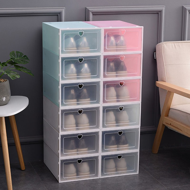 Ericdress Heart Shaped Shoebox Simple Storage Boxes