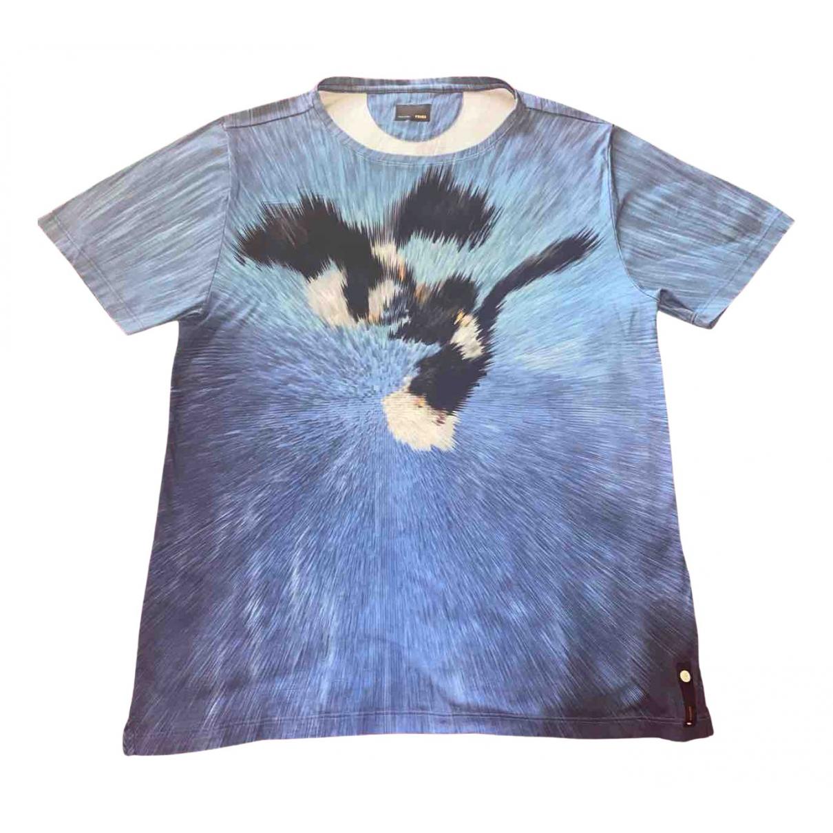 Fendi - Tee shirts   pour homme en coton - bleu