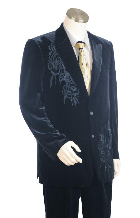 2 Button Navy Zoot Suit Mens