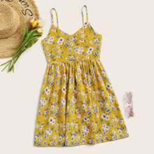 Ditsy Floral Fit And Flare Cami Dress
