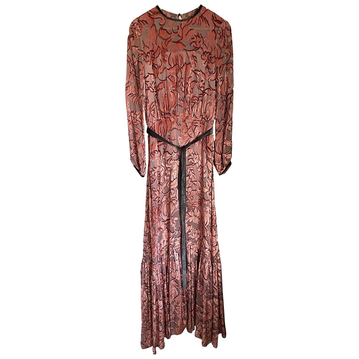 Alexis - Robe   pour femme en velours - rose