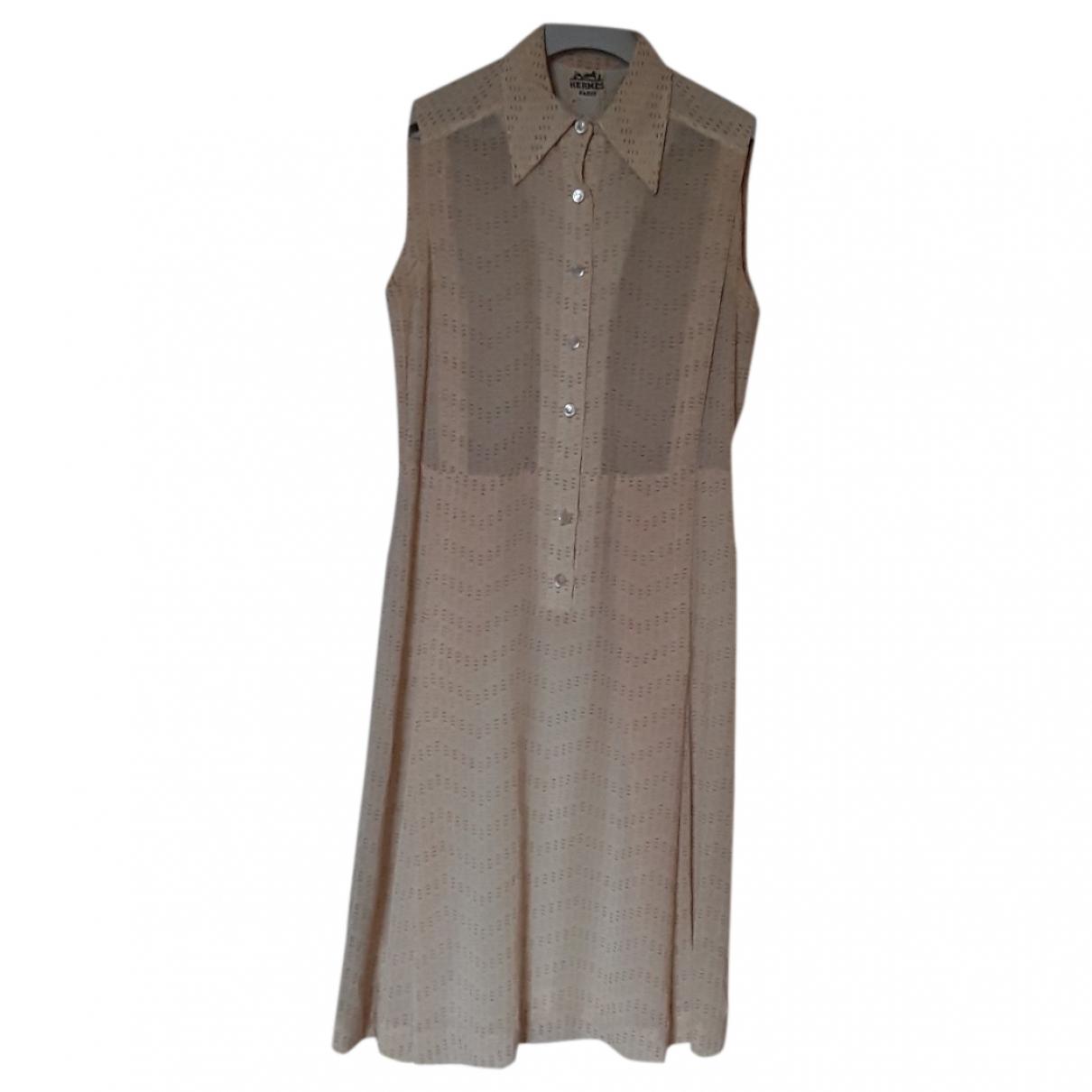 Hermès \N Yellow Wool dress for Women 42 FR