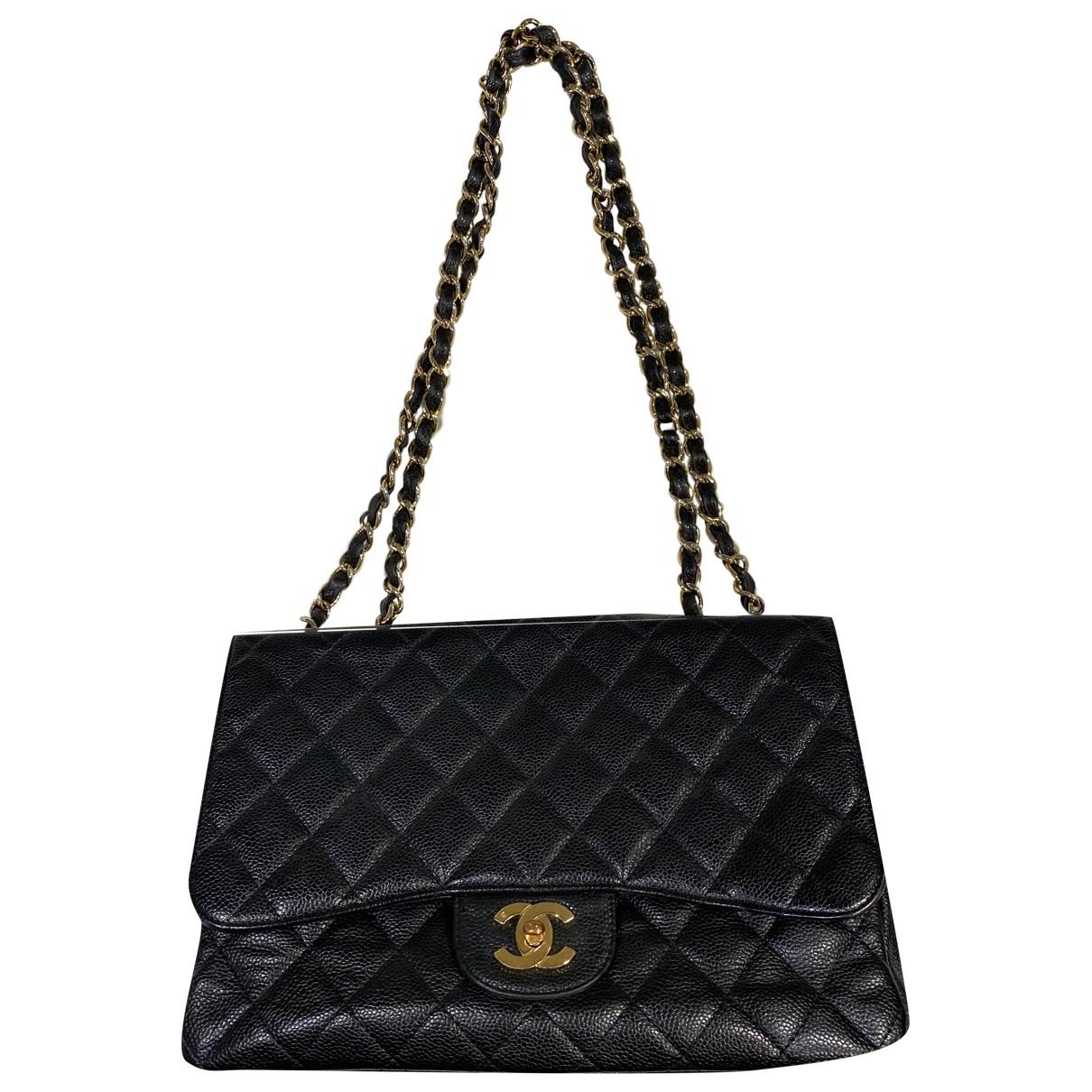 Chanel 2.55 Black Leather handbag for Women N