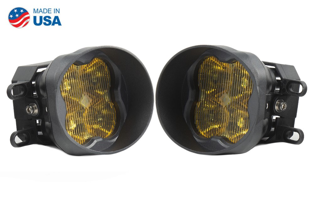 Diode Dynamics DD6187-ss3fog-3505 SS3 LED Fog Light Kit for 2010-2016 Toyota Sienna Yellow SAE/DOT Fog Sport