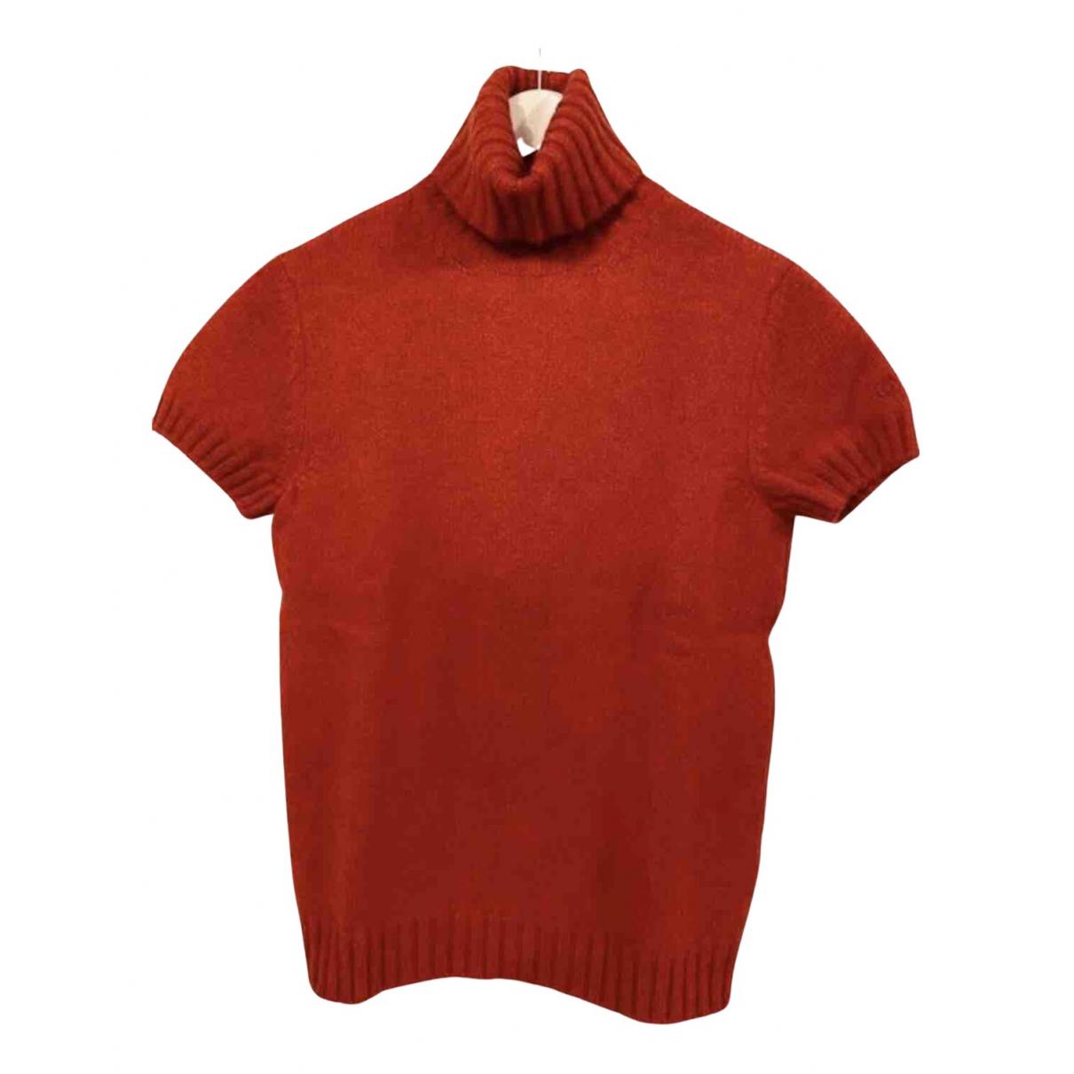 Chanel - Pull   pour femme en laine - rouge