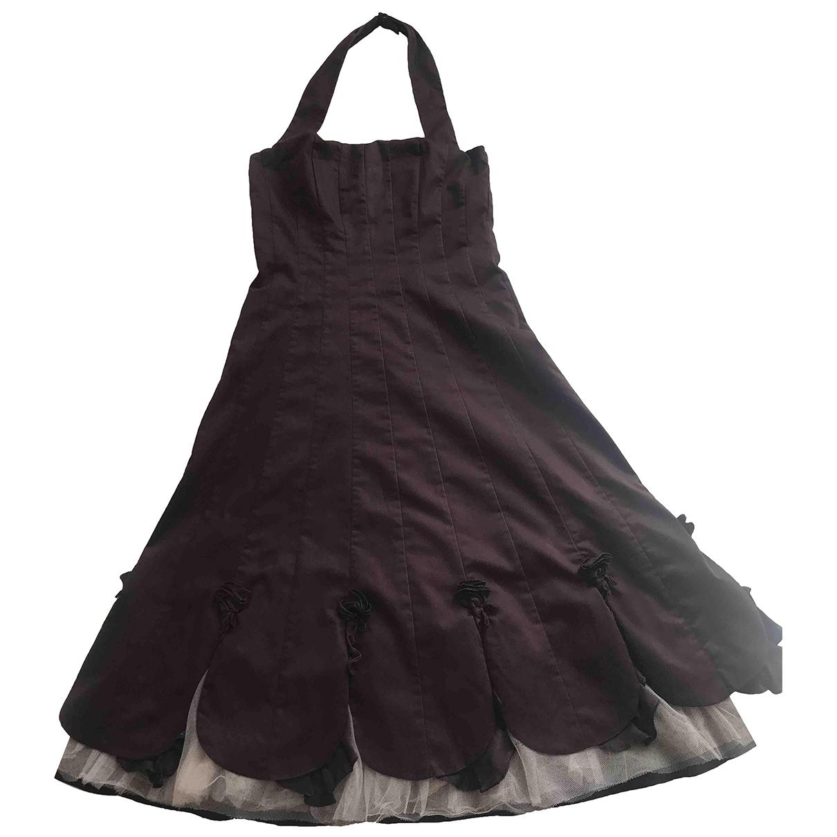 Karen Millen - Robe   pour femme en coton - bordeaux