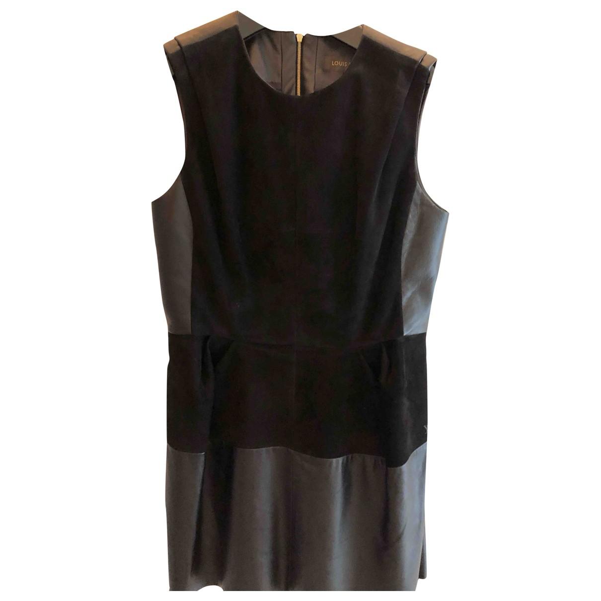 Louis Vuitton \N Kleid in  Schwarz Leder