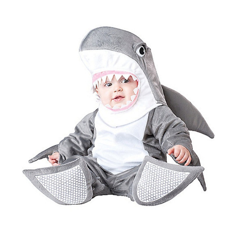 Shark Shaped Tails Decoration Polyester Gray Baby Costume