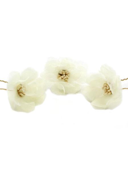 Milanoo Flower Hair Pin Bridal Headpieces Wedding Hair Accessories 3 Pieces