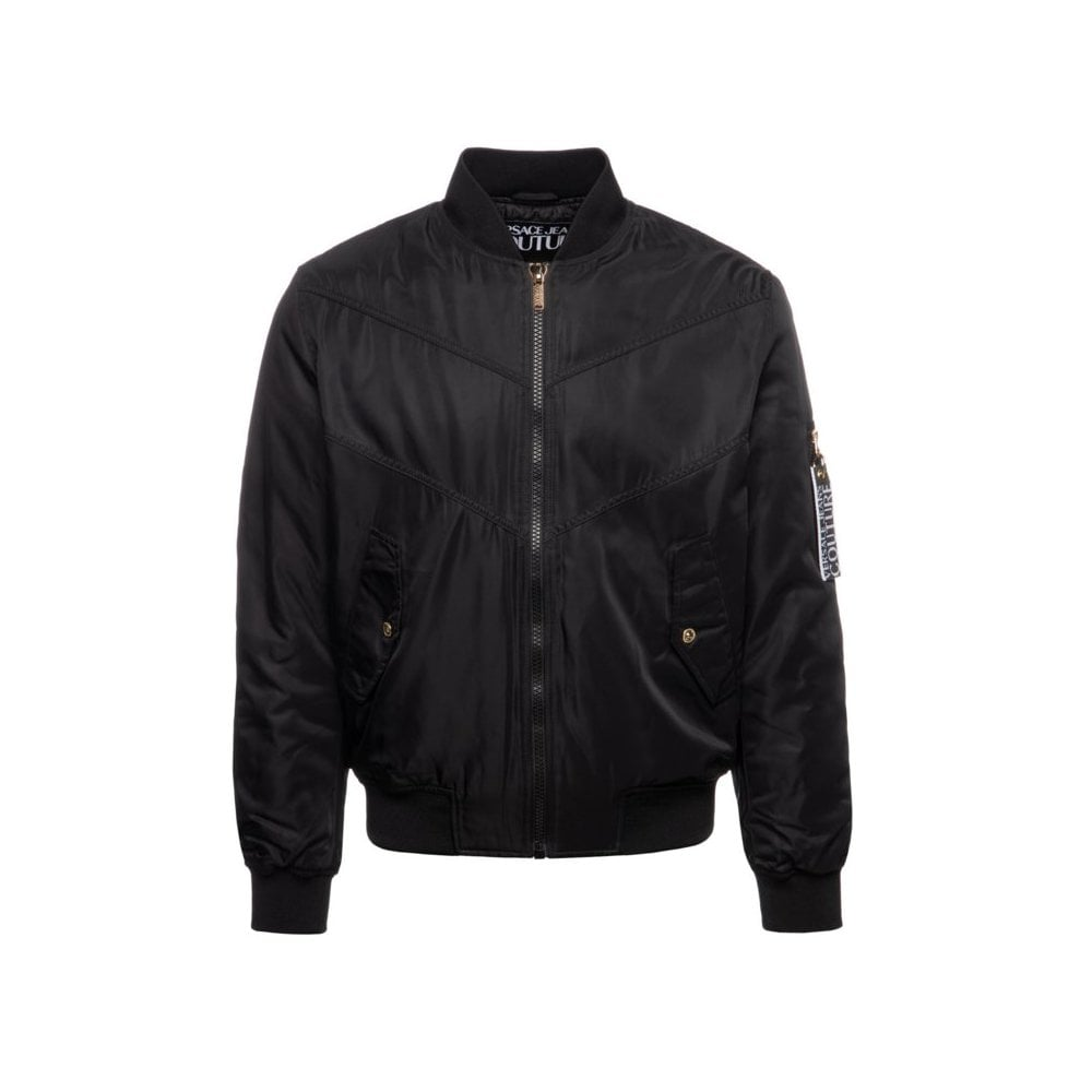 Versace Jeans Couture Black Jacket Colour: BLACK, Size: MEDIUM