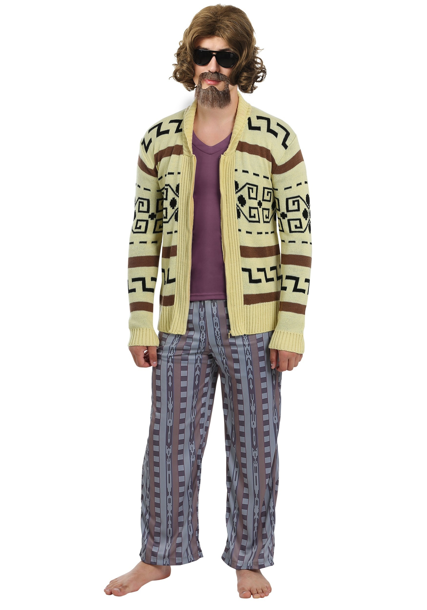 Big Lebowski The Dude Sweater Costume for Plus Size Men