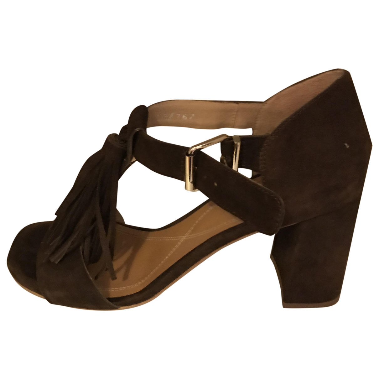 Non Signé / Unsigned \N Brown Suede Sandals for Women 38 IT