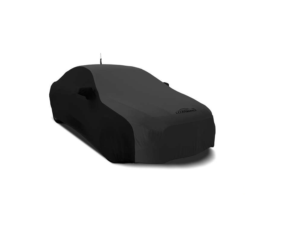 Coverking CVC4SS278AU9323 CVC4SS278 Satin Stretch 2-Tone Black Sides Dark Grey Center Custom Car Cover Audi Q7 16-19