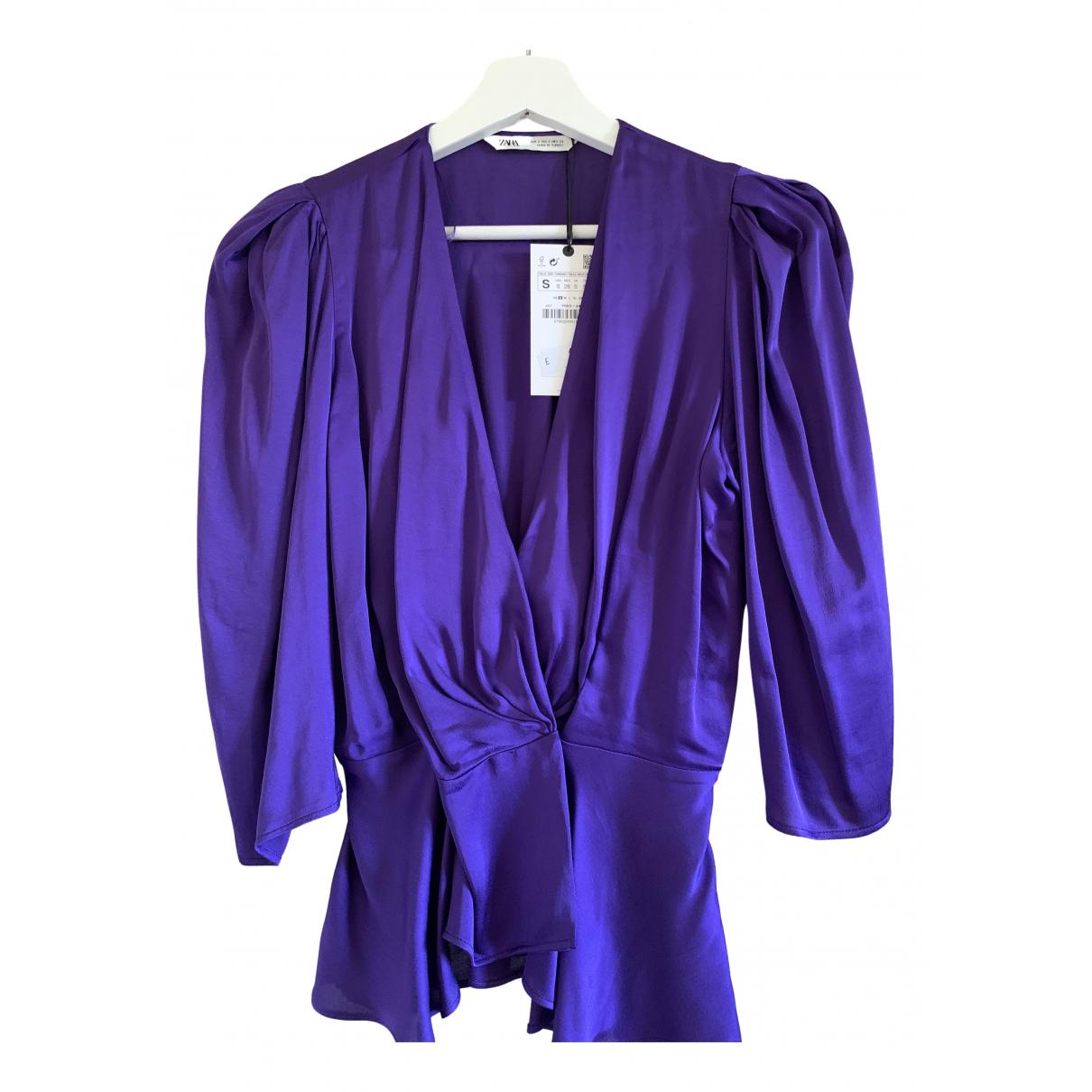 Zara - Top   pour femme - violet