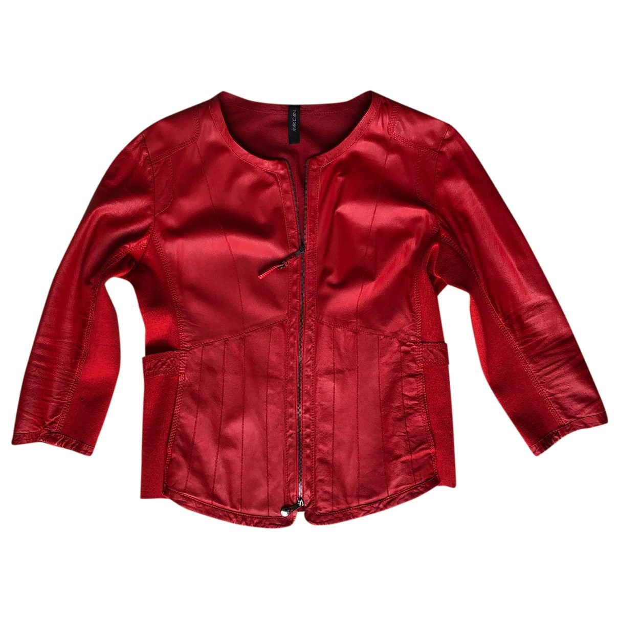 Marc Cain \N Red Leather jacket for Women 4 0-5