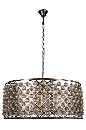 1214G43PN/RC 1214 Madison Collection Pendant Lamp D: 43.5in H: 18.25in Lt: 10 Polished Nickel Finish Royal Cut Crystal