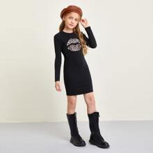 Vestidos para niñas Leopardo Casual