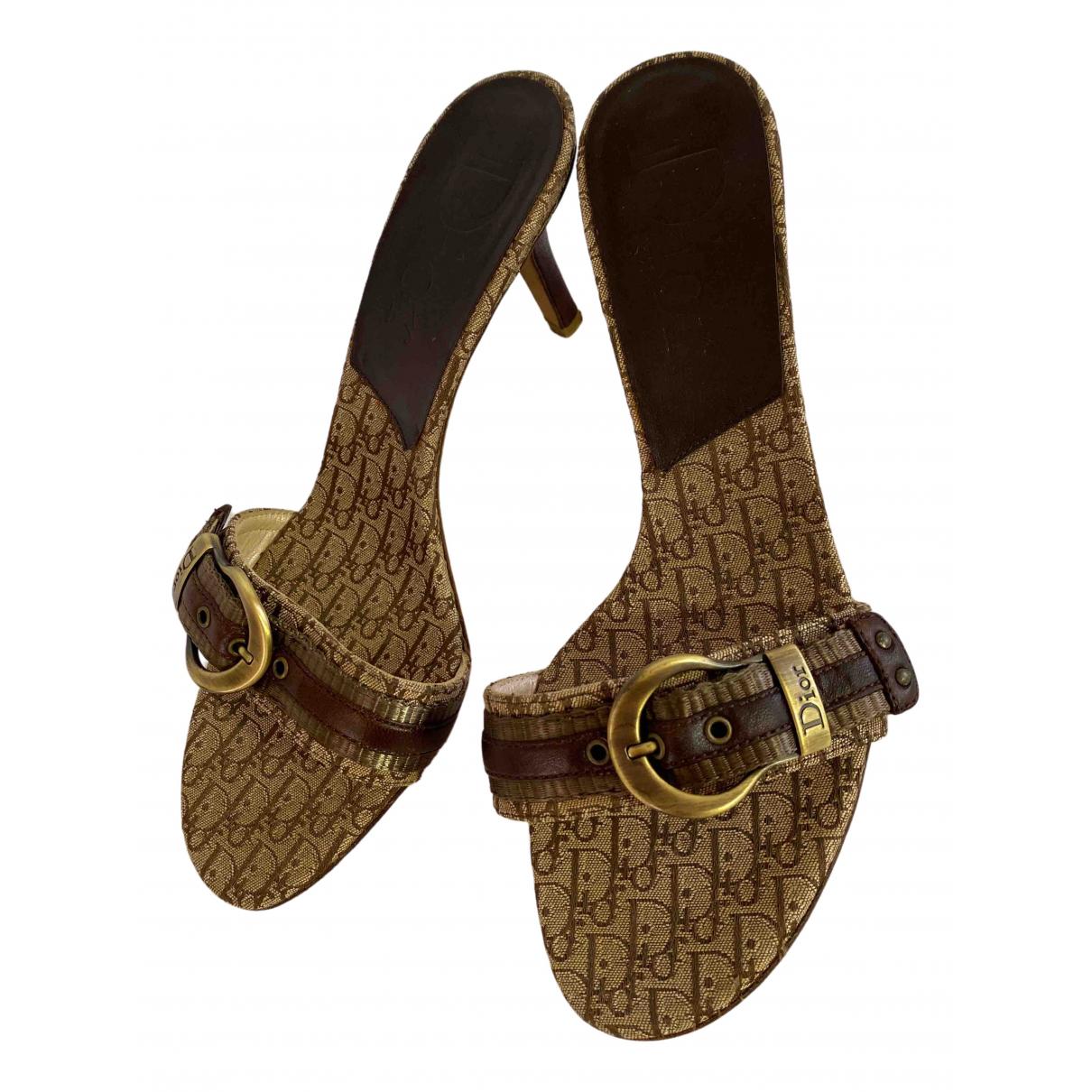 Dior \N Sandalen in  Beige Leinen