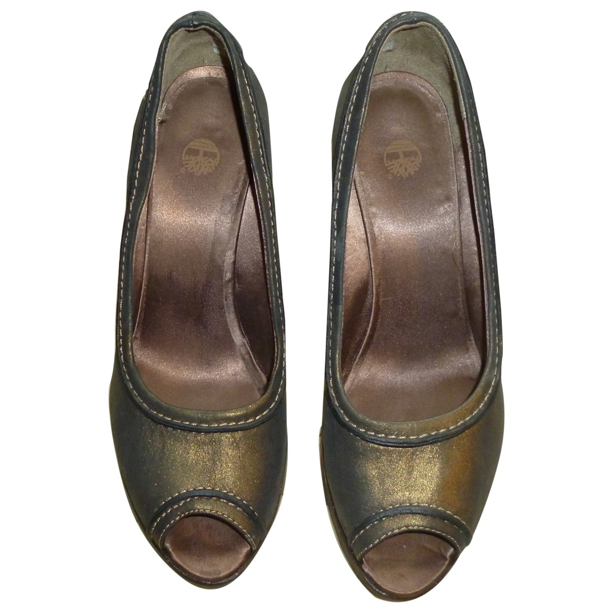 Timberland \N Green Leather Heels for Women 8 US