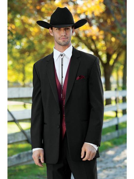Mens Western Suit & Tuxedo Black